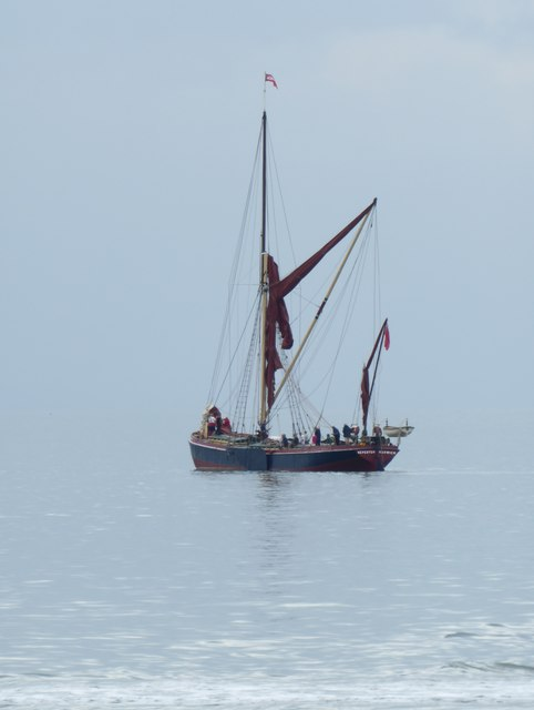 Sailing-barge 'Repertor' off Whitstable