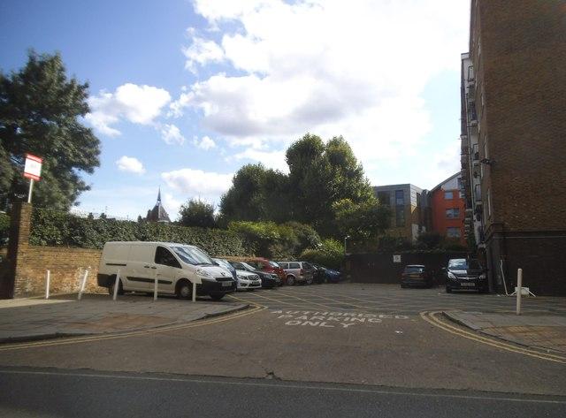 Resident's car park on Long Lane, Bermondsey