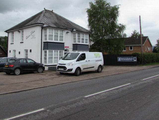 Yodel white van, Hereford Road, Mardy