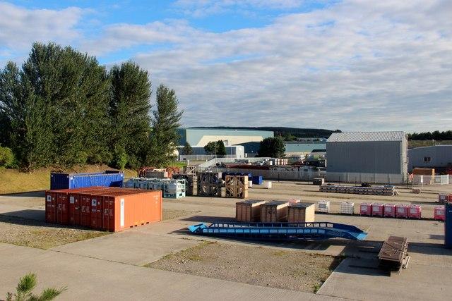 Oil Industry depot, Aberdeen Business Park