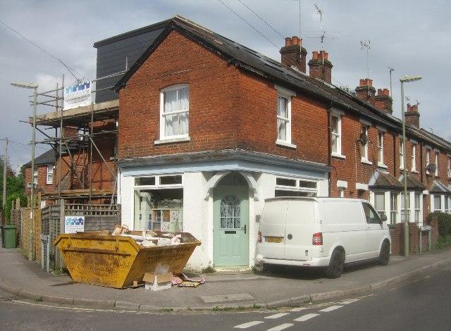 A former corner shop