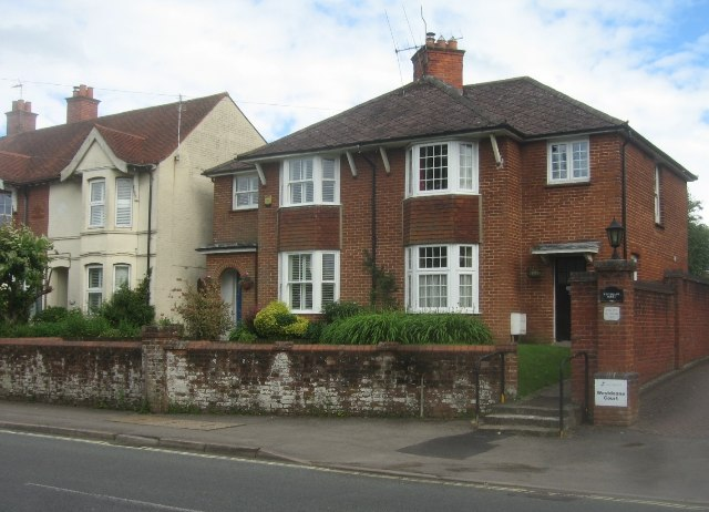 Houses along the Worting Road