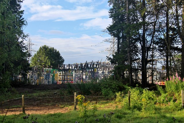 Large electricity sub station at Dyce