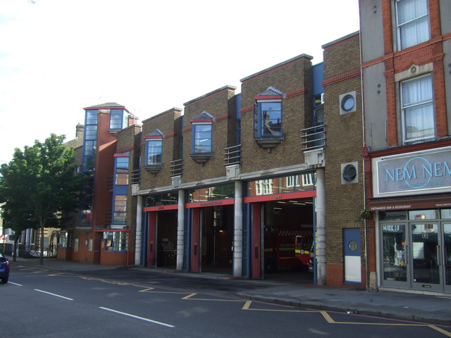 Fire station on Upper Street, Islington, London N1