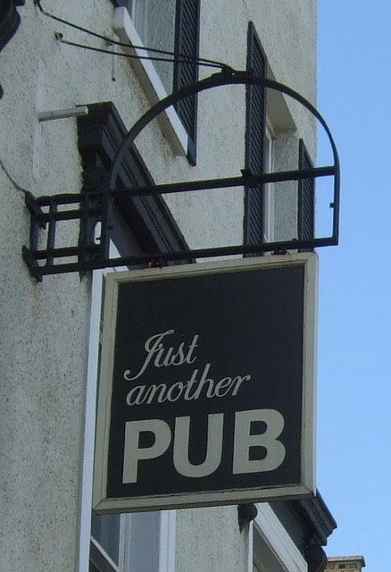 Sign for the Just Another Pub (New Rose)