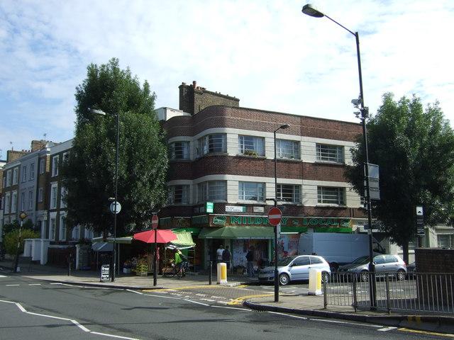 Shop and flats, Mildmay Park, London N1