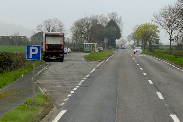 Layby on the A483 near to Berriew