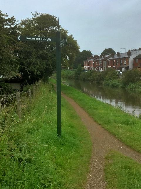 Leeds and Liverpool Canal Towpath near Martland Mill Bridge