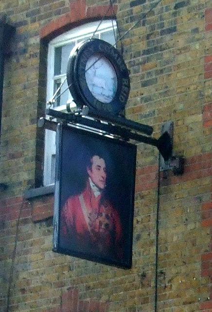 Sign for the Duke of Wellington public house, London