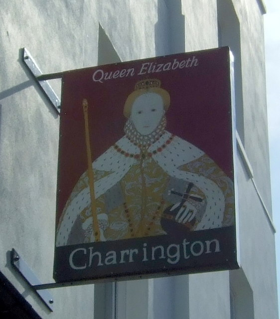 Sign on the former Queen Elizabeth public house, Dalston