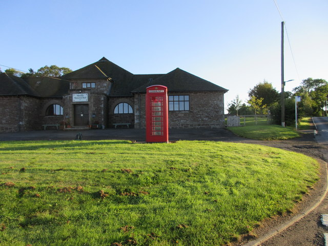 Monikie Telephone Box and Hall