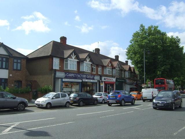 Shops on Lea Bridge Road (A104)