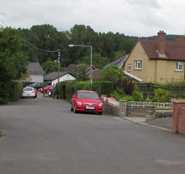 Poplars Road towards Hereford Road, Mardy