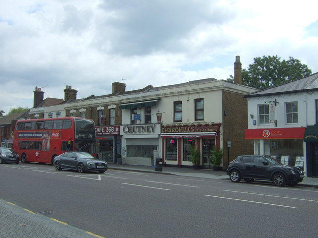 Shops on the A104. Woodford Green