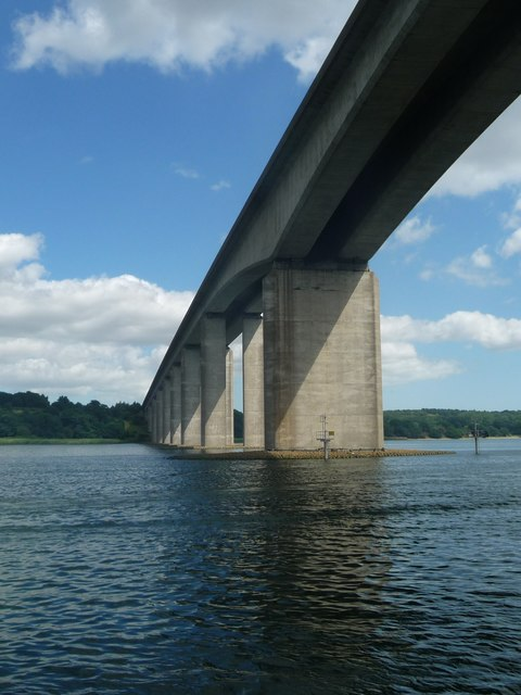 Orwell Bridge from the River Orwell [1]