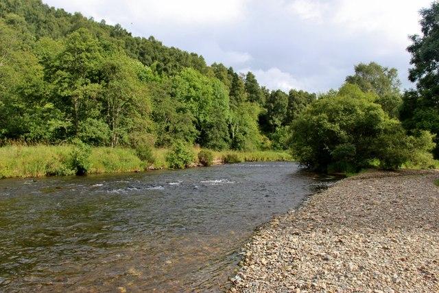 Shingle bank on the River Don