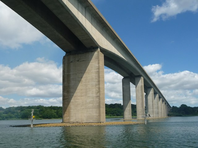 Orwell Bridge from the River Orwell [2]