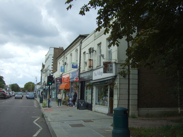 Post Office and shops on the A104, Woodford Green