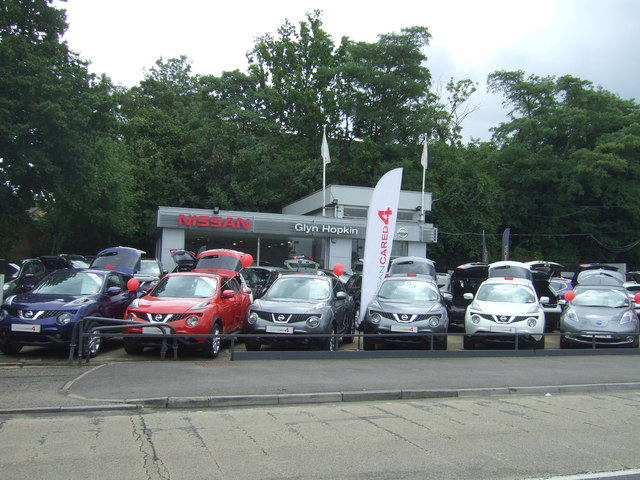 Car dealership on Epping New Road (A104)