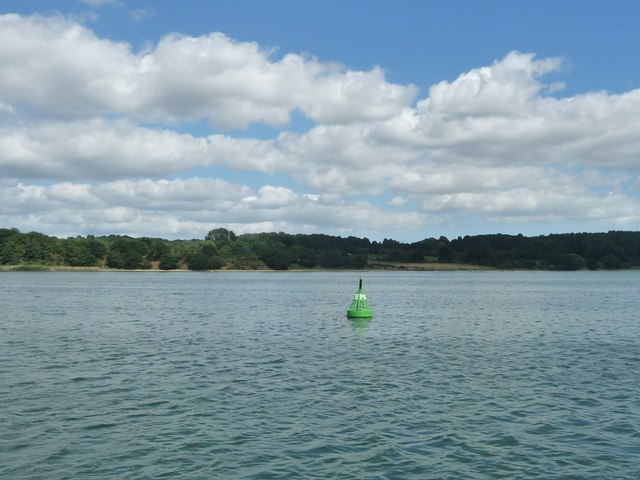 Pond Ooze green navigation buoy, River Orwell