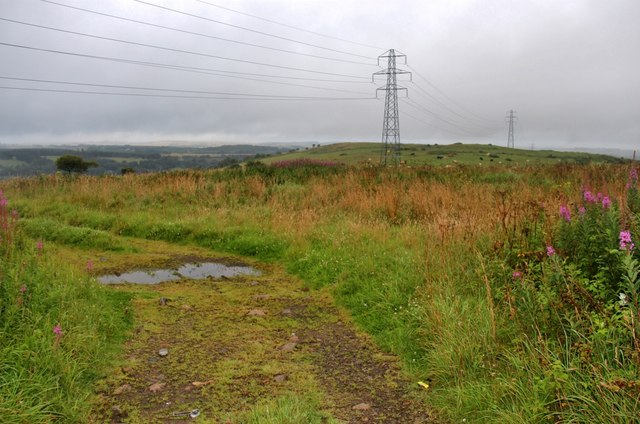 Pylons crossing Blue Hill