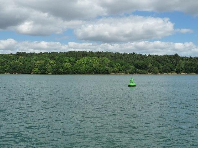 Bridgewood green navigation buoy, River Orwell