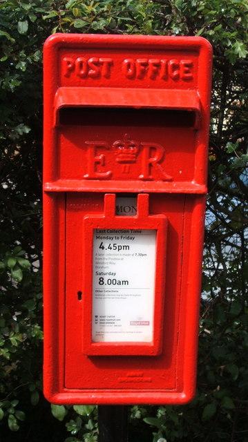 Close up, Elizabeth II postbox, Newney Green