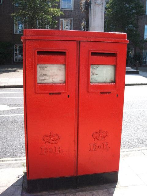 Elizabeth II postboxes on Duke Street, Chelmsford