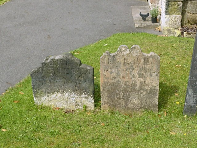 Old headstones, Church of St Michael, Stanton