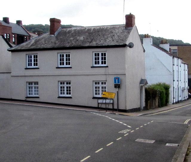 Corner of Chippenhamgate Street  and Glendower Street, Monmouth
