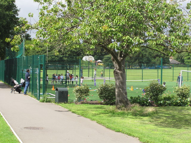 Artificial turf football pitch, North Acton Playing Field
