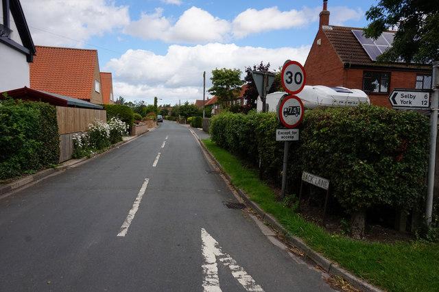 Back Lane, North Duffield