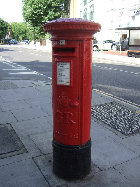 George V postbox on Downs Road, London E5
