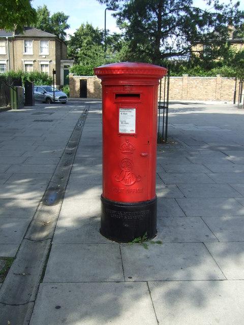 Edward VII postbox on Dalston Lane, London E8