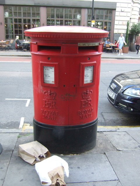 Double aperture Elizabeth II postbox on City Road, London EC1