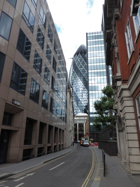 Looking from Fenchurch Street into Mitre Street