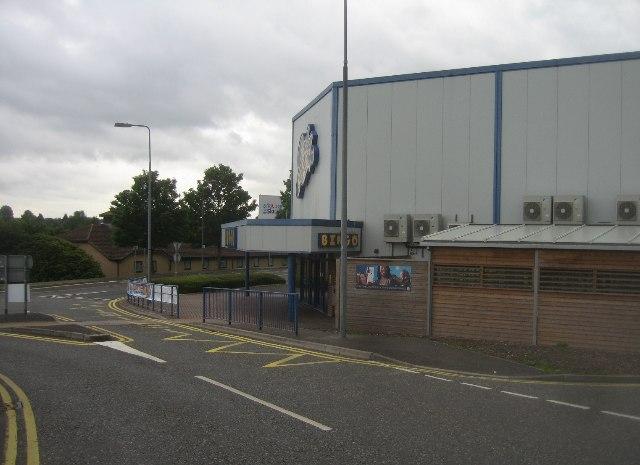 Side view of the Bingo Hall