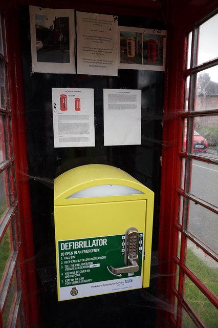 Former telephone kiosk on Main Street, North Duffield