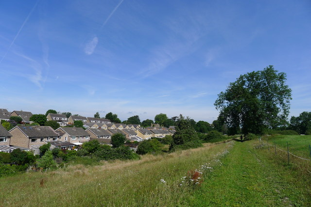 The Cotswold Way by the edge of King's Stanley