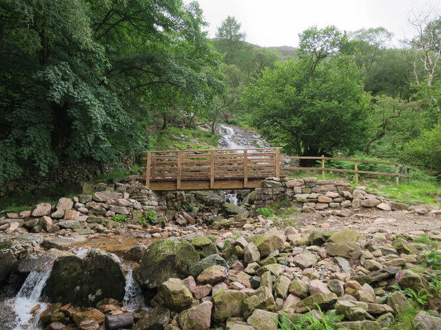 New bridge over Sourmilk Gill