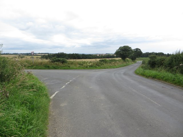 Road junction north of Cockle Park