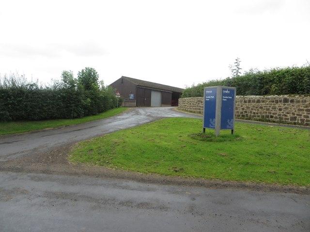 Entrance to Cockle Park farm