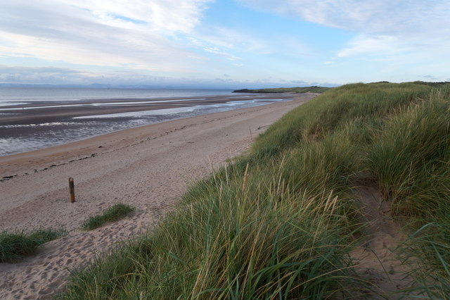 The coastline at Aberlady Bay