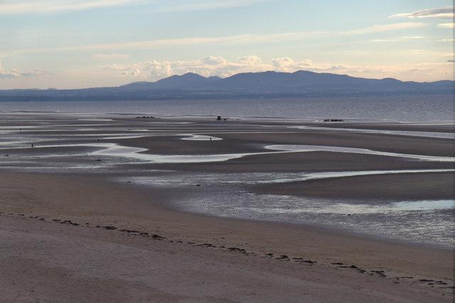 The coastline at Aberlady Bay