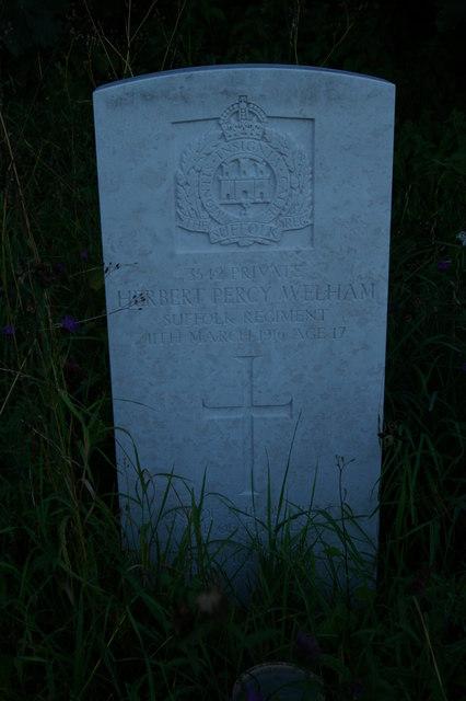 War grave, churchyard of St Mary's Church, Little Blakenham