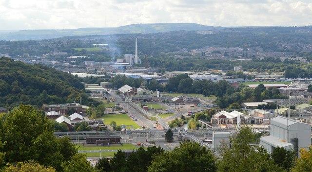 Chemical plant landscape