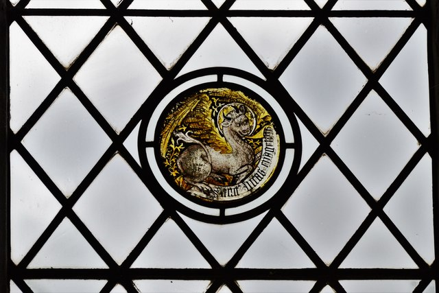 Seething, St. Margaret and St. Remigius Church: Medieval glass roundel 4