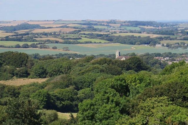 Godshill, Isle of Wight and surrounding countryside