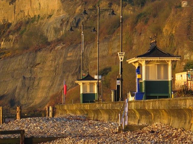 Victorian shelters, Shanklin Esplanade, Isle of Wight