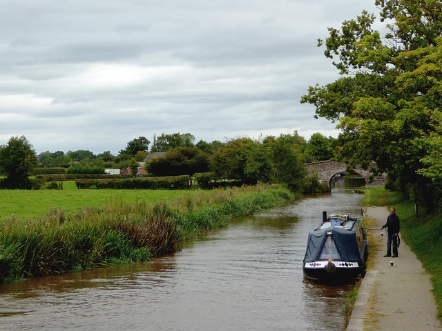 Llangollen Canal south of Burland in Cheshire